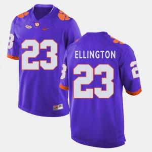 Clemson #23 For Men's Andre Ellington Jersey Purple College Football College 641942-979