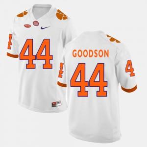 Clemson National Championship #44 Men's B.J. Goodson Jersey White College Football Stitched 545917-287