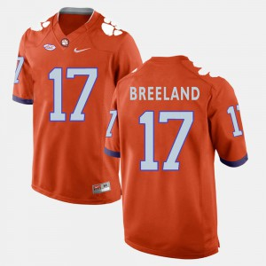 CFP Champs #17 For Men's Bashaud Breeland Jersey Orange College Football Player 342842-156