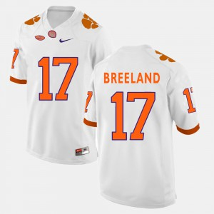 Clemson National Championship #17 For Men's Bashaud Breeland Jersey White Stitched College Football 707016-552