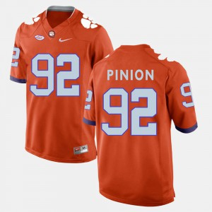 Clemson Tigers #92 For Men Bradley Pinion Jersey Orange Alumni College Football 716351-697
