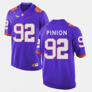 Clemson National Championship #92 For Men Bradley Pinion Jersey Purple College College Football 314241-129