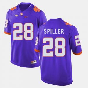 Clemson National Championship #28 For Men C.J. Spiller Jersey Purple Official College Football 426864-971