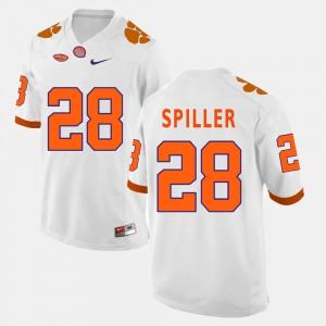 Clemson #28 For Men's C.J. Spiller Jersey White College Football Stitch 131939-359