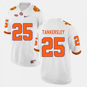 Clemson #25 For Men Cordrea Tankersley Jersey White College Football Embroidery 514919-613