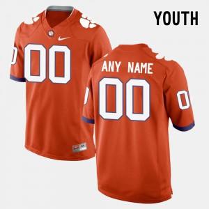 Clemson University #00 Youth(Kids) Customized Jersey Orange College Limited Football University 642130-782