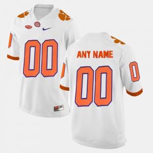 Clemson University #00 Mens Customized Jerseys White College Limited Football Stitch 881799-814