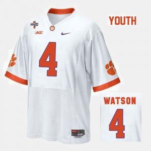 Clemson University #4 Kids Deshaun Watson Jersey White University College Football 997863-577