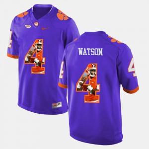 CFP Champs #4 Mens DeShaun Watson Jersey Purple Player Pictorial Fashion 644218-946
