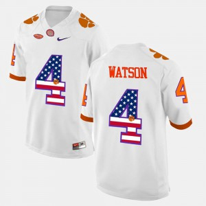 CFP Champs #4 Men DeShaun Watson Jersey White Official US Flag Fashion 167318-895