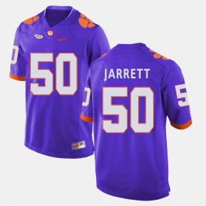 Clemson University #50 Men Grady Jarrett Jersey Purple College Football High School 615383-478