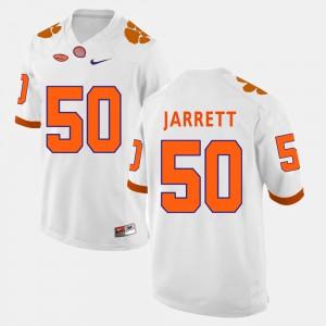 Clemson #50 For Men Grady Jarrett Jersey White Stitch College Football 877969-940