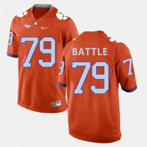 Clemson #79 For Men Isaiah Battle Jersey Orange College Football Embroidery 183460-542