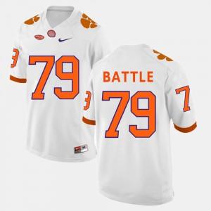 Clemson Tigers #79 For Men's Isaiah Battle Jersey White University College Football 789245-722