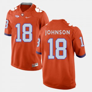 Clemson #18 For Men's Jadar Johnson Jersey Orange High School College Football 751256-799