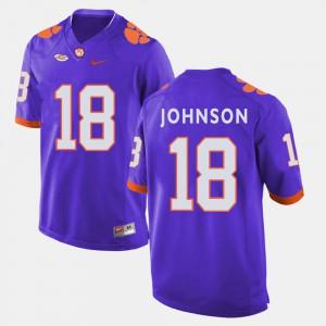 Clemson #18 Men's Jadar Johnson Jersey Purple Alumni College Football 560193-236
