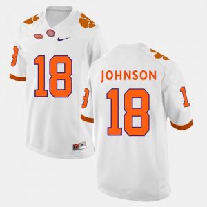 CFP Champs #18 Mens Jadar Johnson Jersey White College Football Player 327588-262