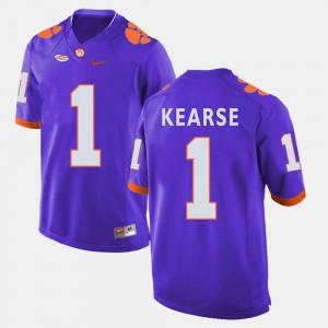 Clemson Tigers #1 For Men's Jayron Kearse Jersey Purple College Football Stitch 306493-724