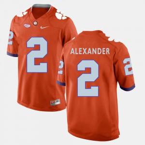 Clemson #2 Men Mackensie Alexander Jersey Orange Official College Football 345468-519