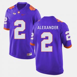 CFP Champs #2 Men's Mackensie Alexander Jersey Purple Stitch College Football 316125-455