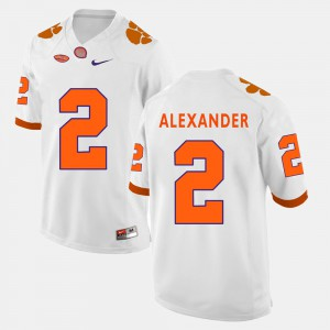 Clemson Tigers #2 Mens Mackensie Alexander Jersey White Alumni College Football 996196-542