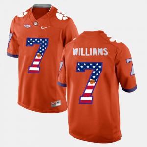 CFP Champs #7 Men Mike Williams Jersey Orange Stitch US Flag Fashion 233890-592