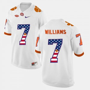 CFP Champs #7 Men's Mike Williams Jersey White High School US Flag Fashion 705909-172