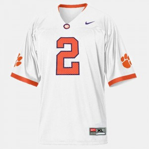 Clemson National Championship #2 For Kids Sammy Watkins Jersey White College Football Official 900185-835