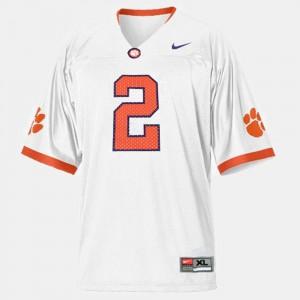 Clemson University #2 Men's Sammy Watkins Jersey White College Football University 414637-412