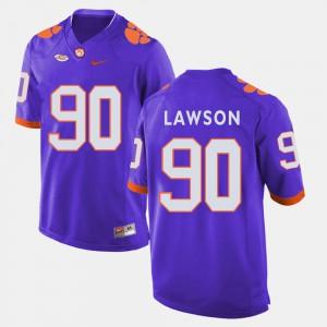 CFP Champs #90 For Men Shaq Lawson Jersey Purple High School College Football 807744-877