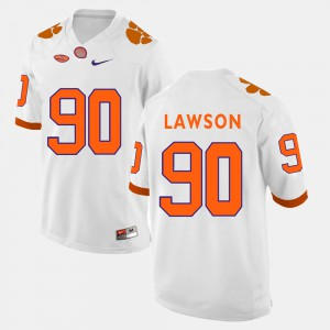 CFP Champs #90 For Men's Shaq Lawson Jersey White Player College Football 735329-229