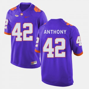 CFP Champs #42 Men Stephone Anthony Jersey Purple College Football Player 821190-748