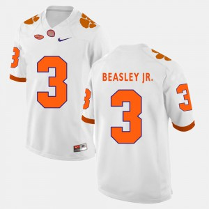 CFP Champs #3 Mens Vic Beasley Jr. Jersey White Stitched College Football 473224-436