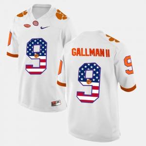 CFP Champs #9 Men's Wayne Gallman II Jersey White NCAA US Flag Fashion 422142-276