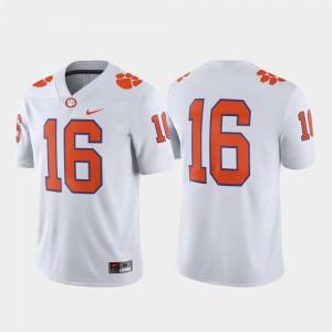 Clemson University #16 For Men's Jersey White College Football Game Alumni 795674-821