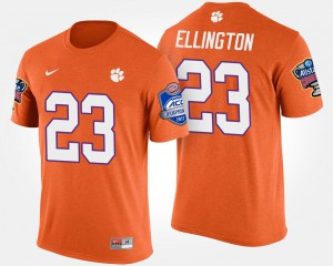 Clemson Tigers #23 For Men Andre Ellington T-Shirt Orange Player Bowl Game Atlantic Coast Conference Sugar Bowl 400571-630