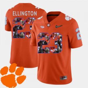 Clemson Tigers #23 Men Andre Ellington Jersey Orange Football Pictorial Fashion Stitch 705322-967