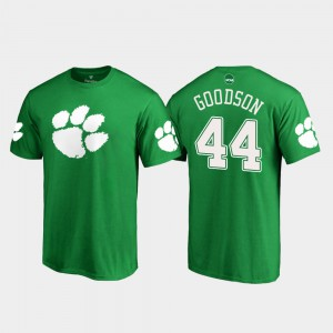 CFP Champs #44 Men B.J. Goodson T-Shirt Kelly Green Stitch White Logo St. Patrick's Day 759094-959