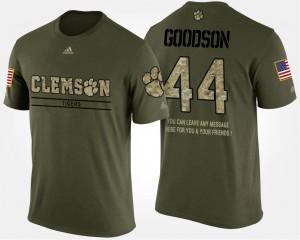 Clemson Tigers #44 Men B.J. Goodson T-Shirt Camo NCAA Military Short Sleeve With Message 164949-192