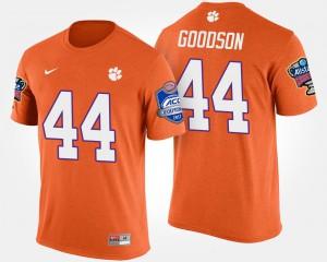 Clemson University #44 For Men's B.J. Goodson T-Shirt Orange College Bowl Game Atlantic Coast Conference Sugar Bowl 881678-656