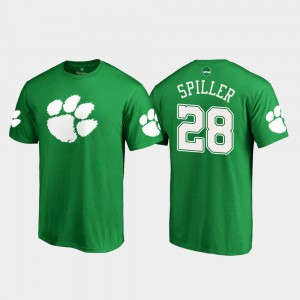 CFP Champs #28 For Men C.J. Spiller T-Shirt Kelly Green Embroidery St. Patrick's Day White Logo 972506-704
