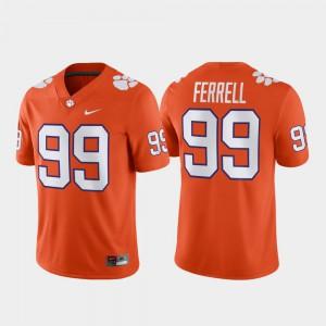 Clemson University #99 For Men Clelin Ferrell Jersey Orange Official Game Football 574966-799