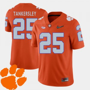 CFP Champs #25 For Men Cordrea Tankersley Jersey Orange 2018 ACC College Football Alumni 985580-259