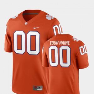 Clemson #00 For Men Customized Jerseys Orange NCAA College Football 2018 Game 751945-676
