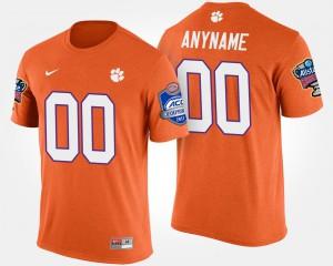 Clemson #00 Men Customized T-Shirts Orange Atlantic Coast Conference Sugar Bowl Bowl Game Embroidery 306251-115