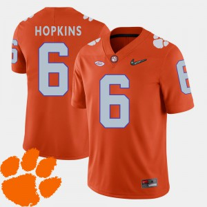 Clemson National Championship #6 Men DeAndre Hopkins Jersey Orange 2018 ACC College Football NCAA 305875-690