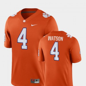 Clemson National Championship #4 Mens Deshaun Watson Jersey Orange College Football Game College 505970-793