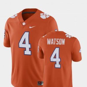 Clemson #4 For Men's Deshaun Watson Jersey Orange Player Alumni Football Game NCAA 679903-470