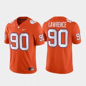 Clemson #90 Mens Dexter Lawrence Jersey Orange Alumni Alumni Football Game 376343-840