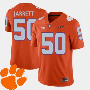 Clemson Tigers #50 For Men Grady Jarrett Jersey Orange University College Football 2018 ACC 684925-562